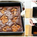 Orange is the new black: saftige Halloweenbrownies mit Kürbis
