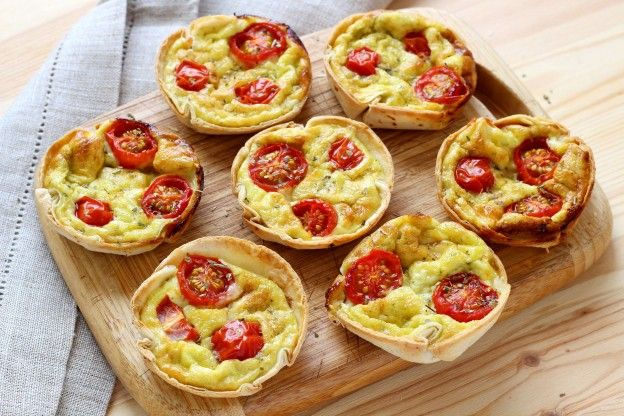 Mini-Quiches in einer Tortilla