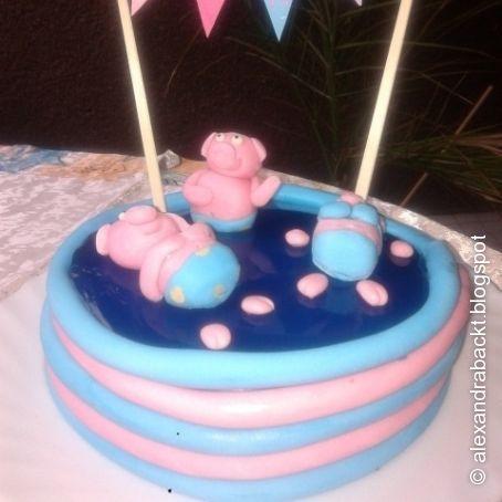 Schweine Im Pool Torte 3 6 5