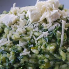 Spinat-Gorgonzola-Risotto