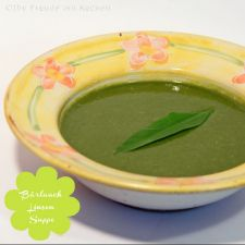 Bärlauch Linsen Suppe - Austria meets India - #vegan