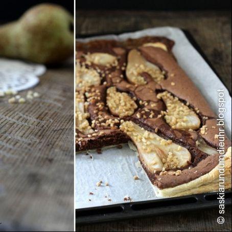 Schoko Karamellkuchen Mit Birnen 3 5 5