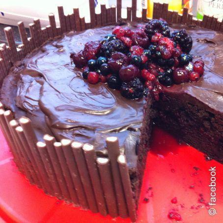 Schokoladen Waldfrucht Torte 4 4 5