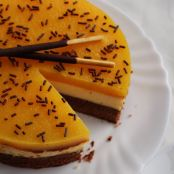 Brownie - Lemon Cheesecake mit Fruchtiger Mango