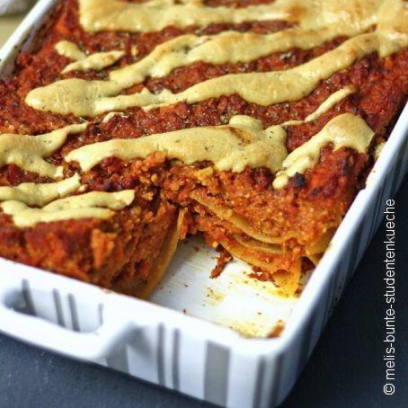 Vegane Lasagne Mit Blumenkohl Bolognese