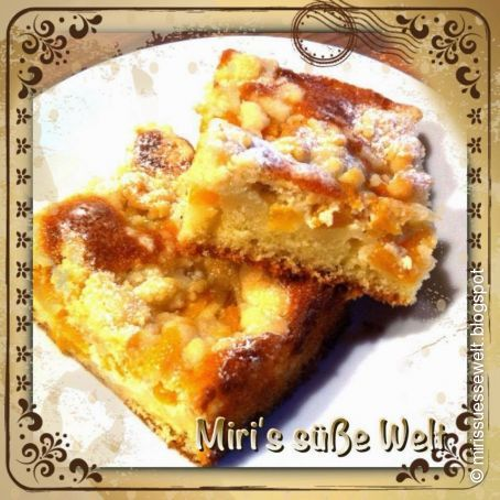 Pfirsich Mascarpone Kuchen Mit Streuseln