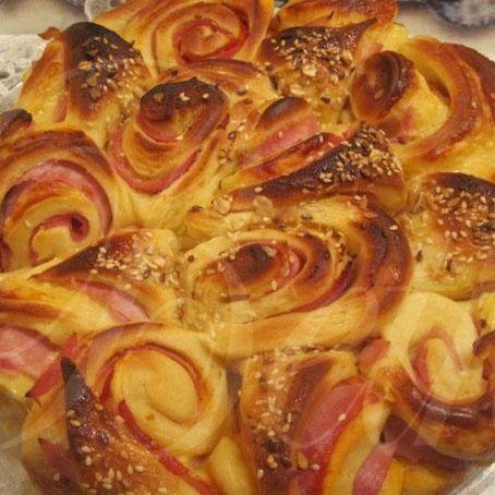 Herzhafter Rosenkuchen Mit Schinken Und Kase 3 8 5