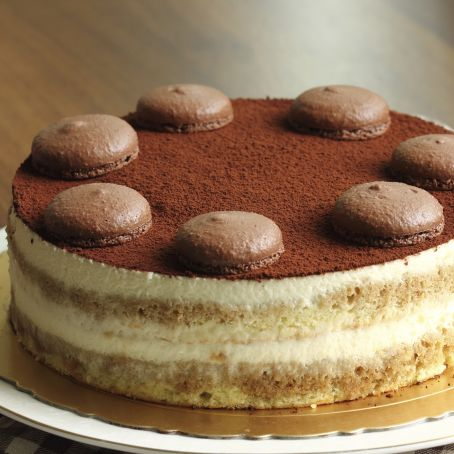 rezept f r tiramisu torte mit softem biskuitboden und. Black Bedroom Furniture Sets. Home Design Ideas