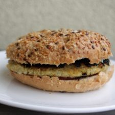 Tofu-Kichererbsen-Burger, vegan