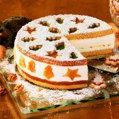 Ideen Für Einfaches Weihnachtsessen.Käse Sahne Torte Weihnachtlich