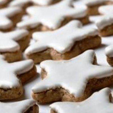 Glasur Weihnachtsplätzchen.Zimtsterne Mit Glasur 4 9 5