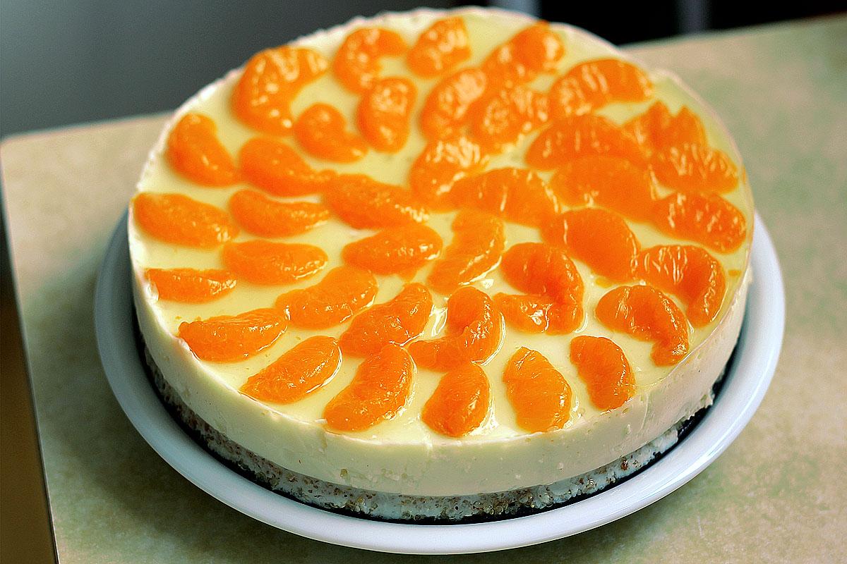 Philadelphia kuchen ohne backen mit mandarinen